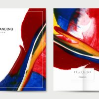 Branding poster with abstract design vector